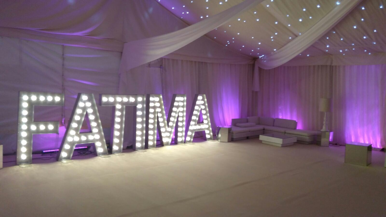 Light Up Marquee Letters Hire Rio Lounge