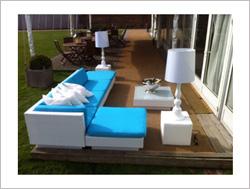 Rattan Furniture Hire in turquiose