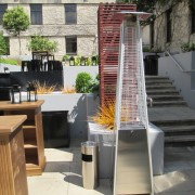 athena patio heater set up outside
