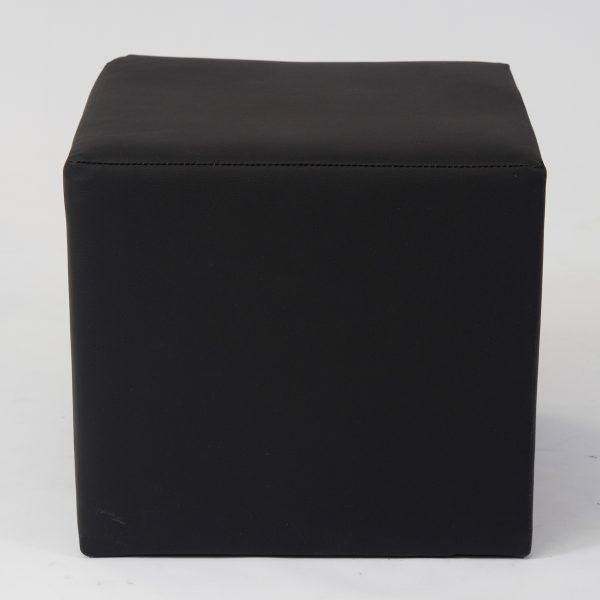 Black cube ottoman seat for hire