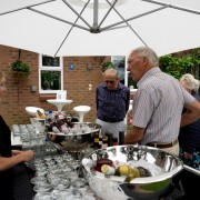 silver champagne bowl hire for your garden party