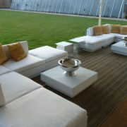 champagne bowl hired out with marrakesh club set in white and mirror cube tables