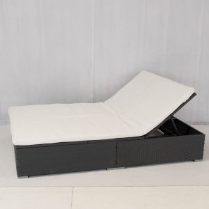 grey double sunlounger: daybed hire