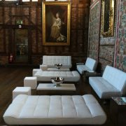 white daybeds and sofa for hire