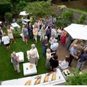 white garden umbrella hire for your summer party