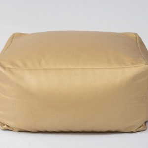 Gold floor cushion square shaped for hire