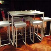 Kubo bistro stool hire and Kubo bistro table