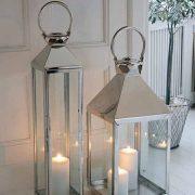 square lantern and tall lantern