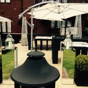 mirror plinths being used in outdoor set up