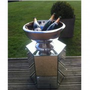 octavia mirror table hosting our champagne bowl