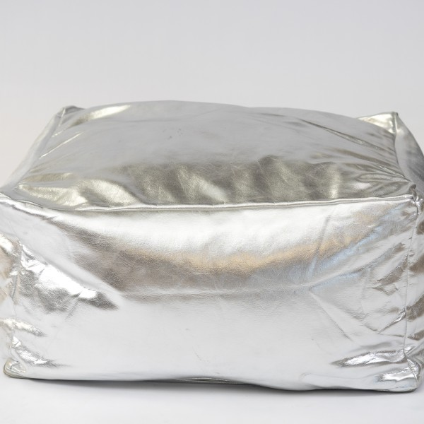 Silver floor cushion square shaped for hire