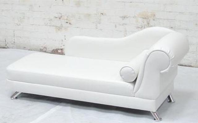 Corinthian White Chaise Longue Hire Rio Lounge