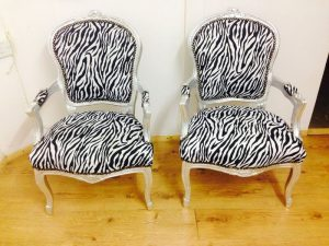 zebra throne chair hire with silver frames