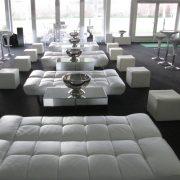 white faux leather daybeds