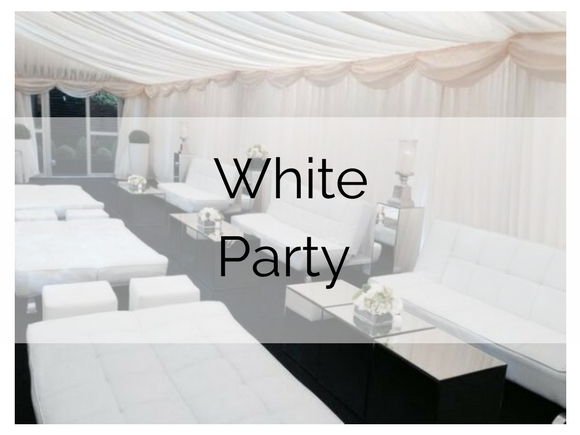 White Party Furniture Hire