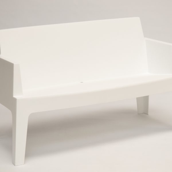 plastic sofa hire white