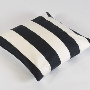scatter cushion black/white stripe for hire