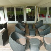 Delano tub sets on decking