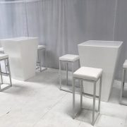 hi-ball poseur tables with kubo stools
