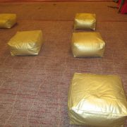 marrakesh style with gold scatter cushions