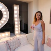 21 light up numbers at birthday party