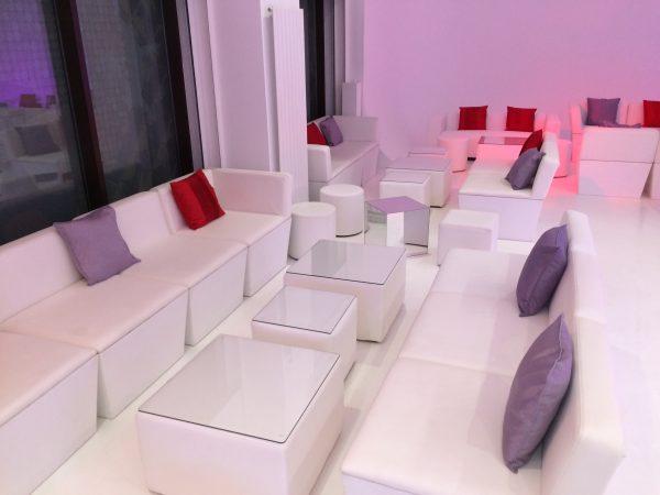 funky furniture hire: faux leather ana mandara sofa modules