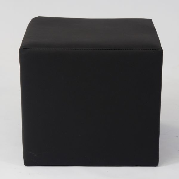 Black cube ottoman seat for hire