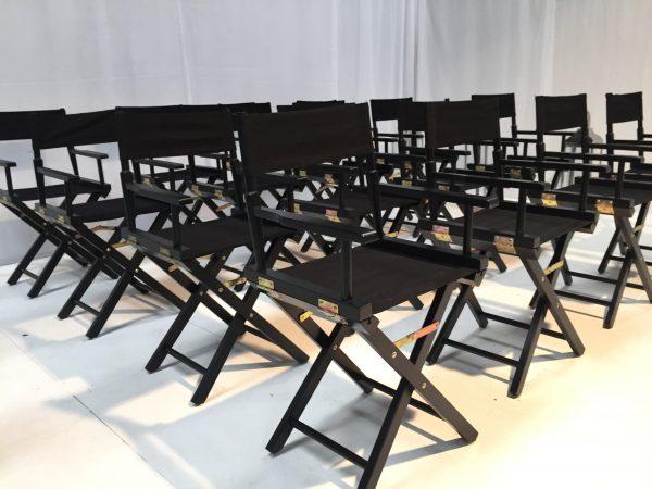 Black directors chair hire