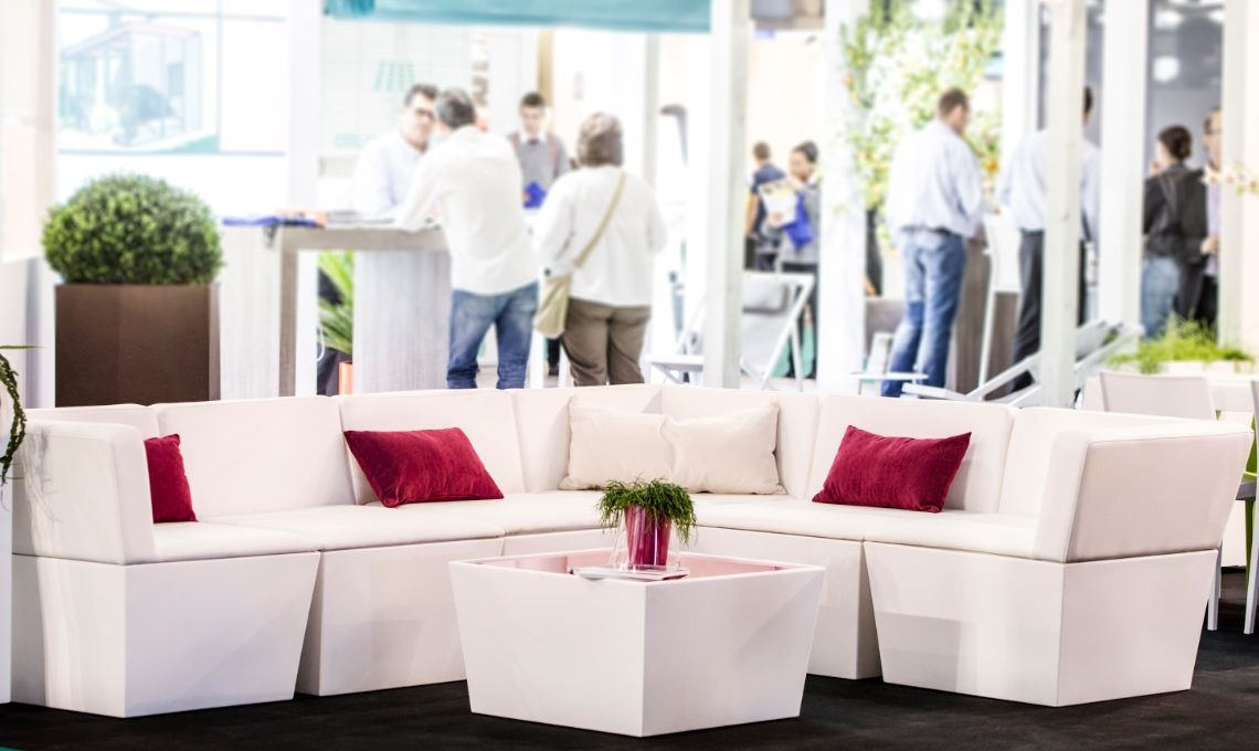Event furniture hire at an exhibition