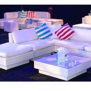 white sofa sets in nightclub