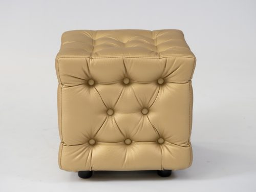 Chesterfield ottoman in gold for hire
