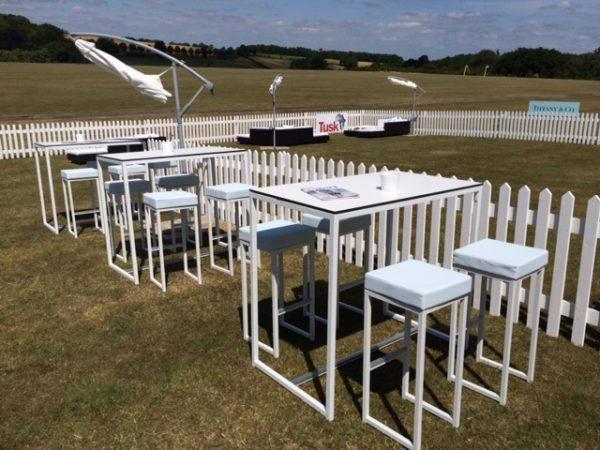Kubo bistro tables and Kubo bistro stool hire