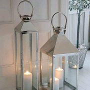 square lantern and tall lantern