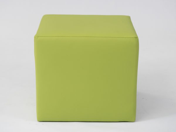 lime cube ottoman seat to hire