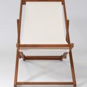 Linen deckchair for hire in white