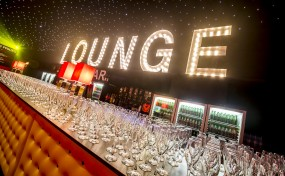 our marquee letters being used for a bar area