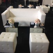 mirror cube tables with club sofa and chesterfield ottoman