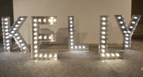 Light up letters for hire