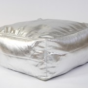 Silver floor cushion square shaped