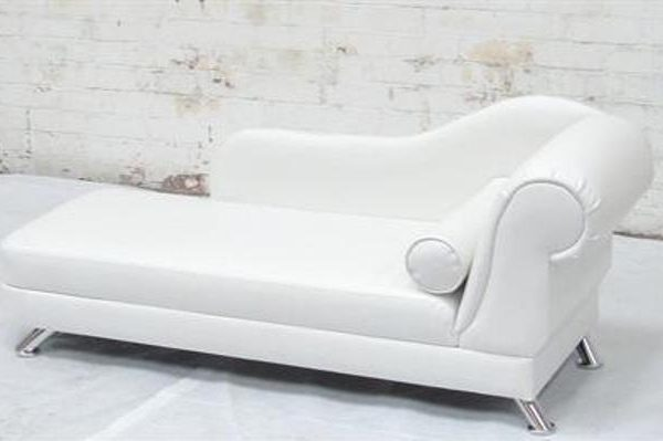 white chaise lounge sofa to hire