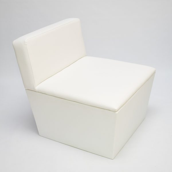 white modular sofa unit for hire
