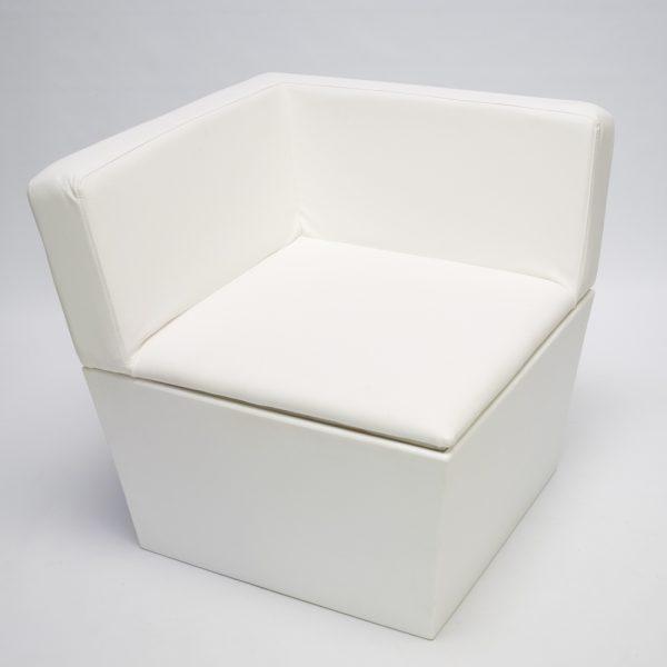 white sofa corner module