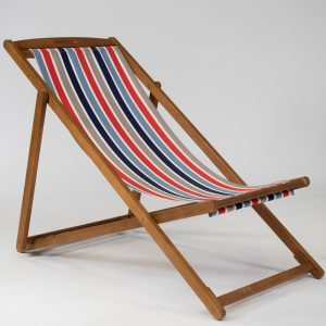 Striped deckchair for hire