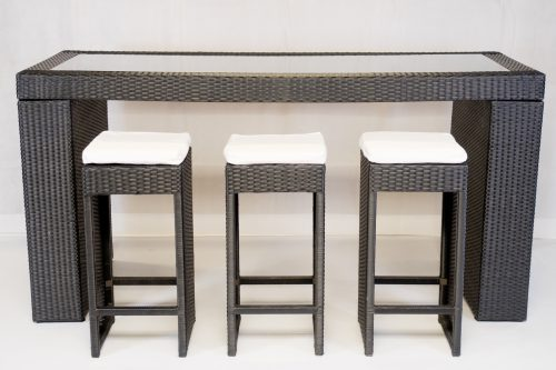 Rattan Furniture Hire: South Beach bistro set to hire to include table and six stools
