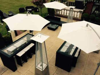 parasol umbrella hire: weather-proof-party-furniture