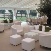 Casa Armchairs with Large Cabo Table Club ottoman and Bulgari