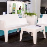 mambo white sofa chair and table