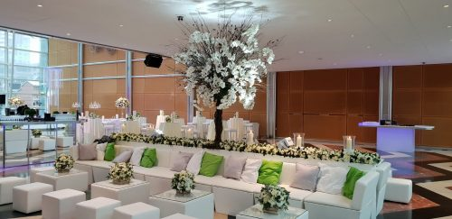 wedding furniture hire: scatter cushions