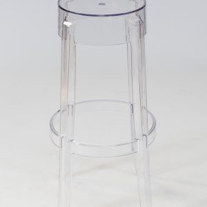 clear perspex bar stool hire
