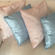 Baby blue and blush pink scatter cushions